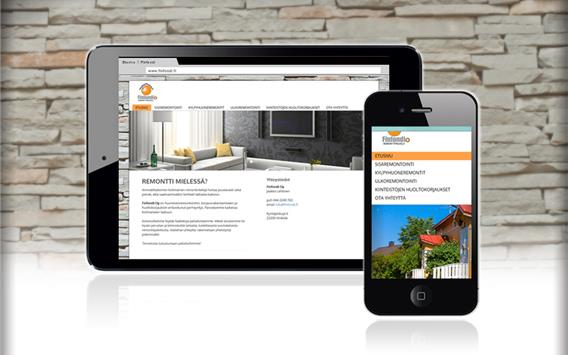 Responsive website for building and renovation company Client: Finfondi Oy, www.finfondi.fi